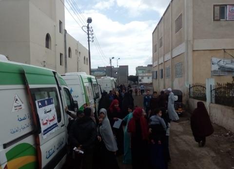 الكشف على 1800 مواطن في قافلة طبية بأبو جريدة في دمياط