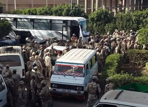 توزيع قوات تأمين مقرات اللجان الانتخابية بمركز القناطر الخيرية