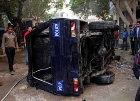 إصابة 5 مجندين في انقلاب سيارة شرطة بسوهاج