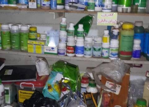 """""""تموين الفيوم"""": ضبط 3486 عبوة مبيدات زراعية وسلع غذائية فاسدة"""