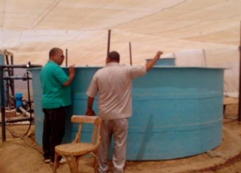 إعادة تدوير مياه المزارع السمكية لري الصوب بالوادي الجديد