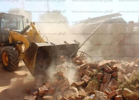 إزالة 12 حالة تعد على الأراضي الزراعية بمدينة طما بسوهاج