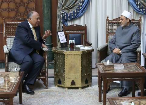 """""""الطيب"""" يلتقي وزير الخارجية لبحث سبل تصويب الخطاب الديني"""