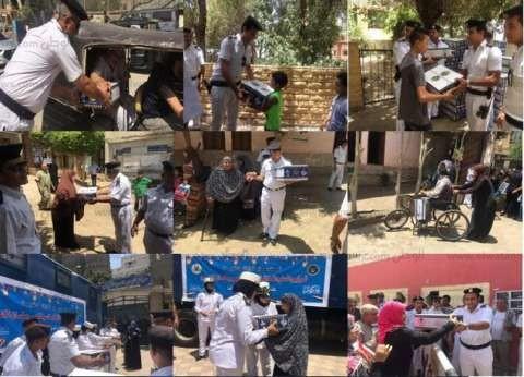 """""""الداخلية"""" تواصل توزيع """"كرتونة رمضان"""" في القاهرة والقليوبية والسويس"""