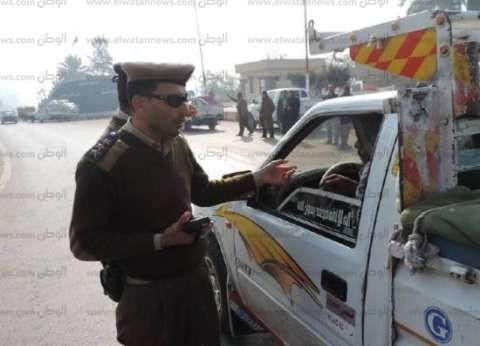 ضبط 41 مركبة مخالفة وتحرير 1575 مخالفة مرورية في كفر الشيخ