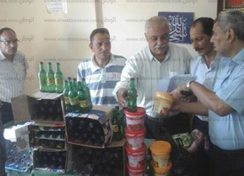 ضبط سلع غذائية منتهية الصلاحية في حملة تموينية بالبحيرة