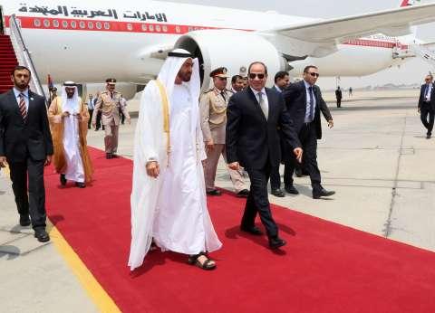 محمد بن زايد يغادر القاهرة بعد زيارة استغرقت عدة ساعات