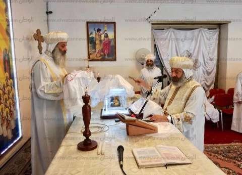 """""""الأسقف العام"""" يلتقي بأقباط كنيسة مارمينا في روما"""
