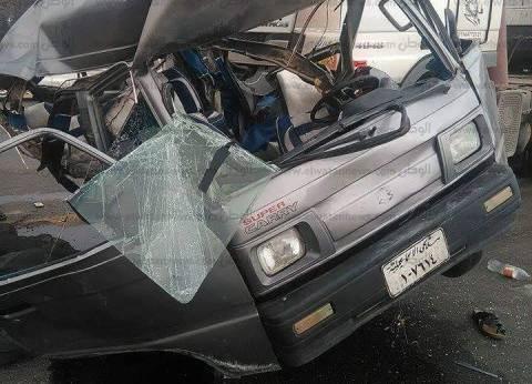 مصرع 3 أشخاص وإصابة 3 في حادث انقلاب سيارة أعلى الطريق الدائري