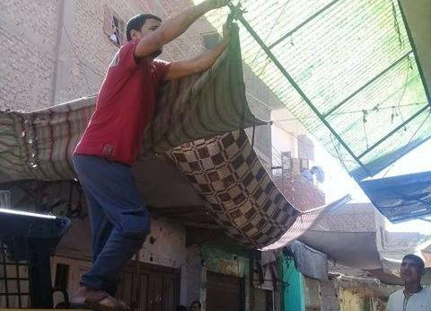 إزالة الإشغالات والأكشاك غير المرخصة بمركز ملوي في المنيا