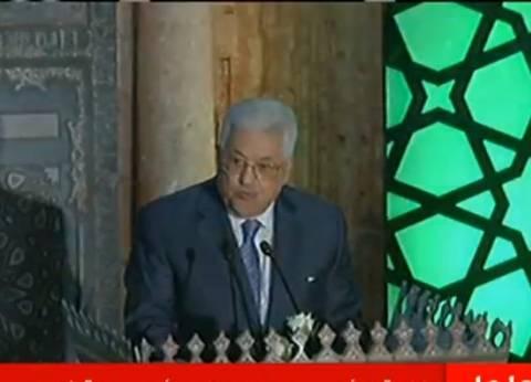 محمود عباس: جباه الفلسطينيين من تقف أمام الاحتلال بالقدس