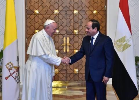 بابا الفاتيكان لتواضروس: هنا تجلى الاتحاد بين الإلهي والإنساني