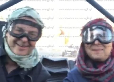 بالفيديو| وليد توفيق وراغب علامة في رحلة سفاري بصحراء السعودية