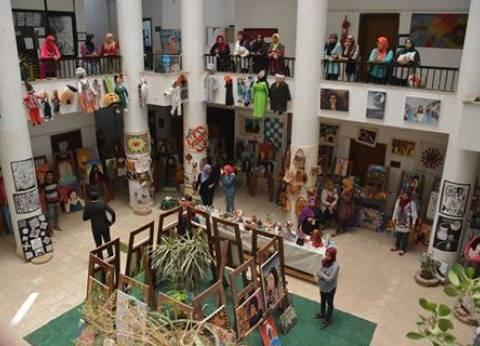 افتتاح معرض الأنشطة لطلاب التربية الفنية بجامعة السويس