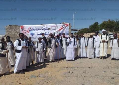إقبال كبير من أهالي حلايب وشلاتين للاستفتاء على التعديلات الدستورية