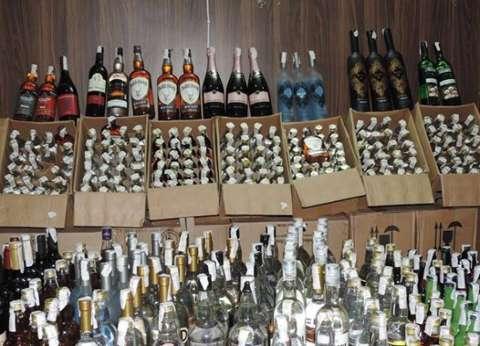 ضبط 510 زجاجات خمور بدون ترخيص قبل دخولها لأحد الفنادق بالفيوم