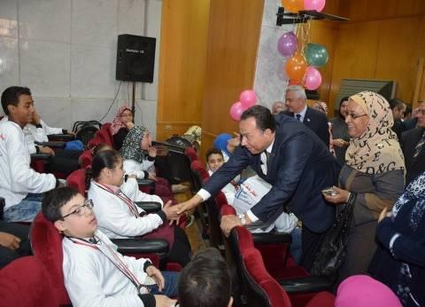 بالصور| جامعة المنوفية تحتفل باليوم العالمي لأطفال متلازمة داون