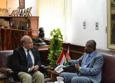 رئيس جامعة الإسكندرية يستقبل سفير غينيا لمناقشة سبل التعاون في مجالات التدريس