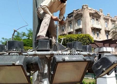 حي الجمرك بالإسكندرية يستكمل أعمال صيانة الكهرباء بنطاق الحي