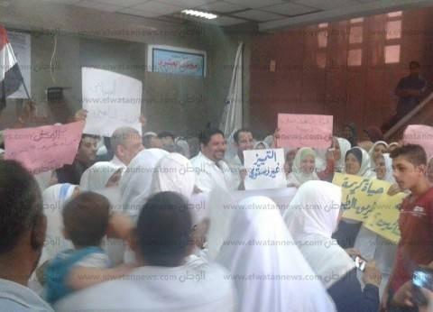 إضراب موظفين بمستشفى حكومي بالمنيا احتجاجا على قانون الخدمة المدنية