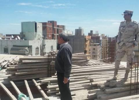 حملة للتصدي لظاهرة البناء المخالف بحي وسط الإسكندرية