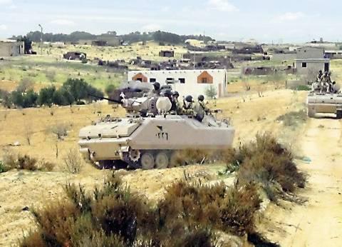 """تصفية 9 إرهابيين بحيازتهم """"قذائف هاون"""" في شمال سيناء"""