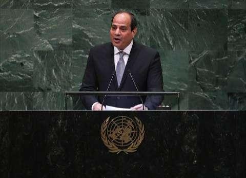 السيسي: يجب تعزيز دور الأمم المتحدة كقاعدة أساسية لتوازن المصالح