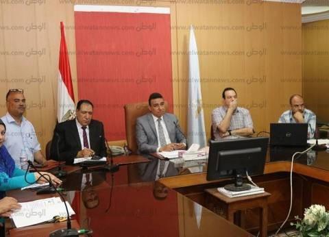 """سكرتير """"كفر الشيخ"""" يناقش مع التنفيذيين إنجاز المشروعات الاستثمارية"""