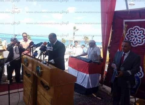 """""""أبوزيد"""": اهتمام الرئيس بمطروح وراء المشروعات التنموية في المحافظة"""