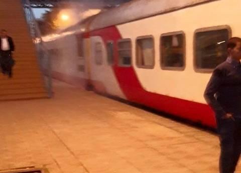 اندلاع حريق محدود في قطار مكيف بالمنيا