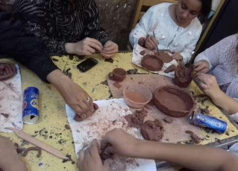 """""""ثقافة سمالوط"""" ينظم ورش فنون تشكيلية للأطفال لمدة أسبوع"""