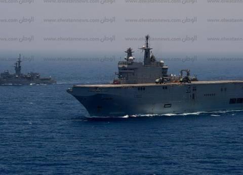 بالصور| البحرية المصرية والفرنسية تنفذان التدريب البحري كليوباترا 2017
