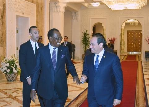 السيسي يستقبل رئيس تشاد: مصر حريصة على تعزيز وتطوير العلاقات