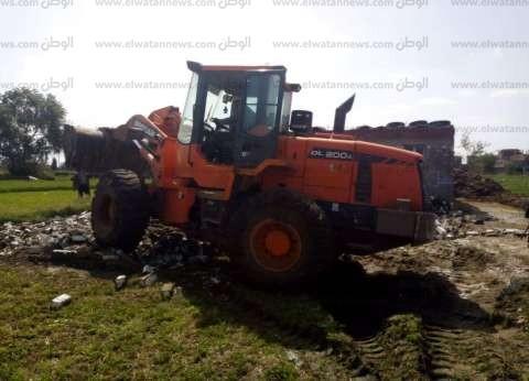 إزالة تعديات على الأراضي الزراعية في دمياط