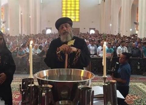 حالة من الحزن بين مصلين عيد السعف بكنيسة المرقسية بالإسكندرية