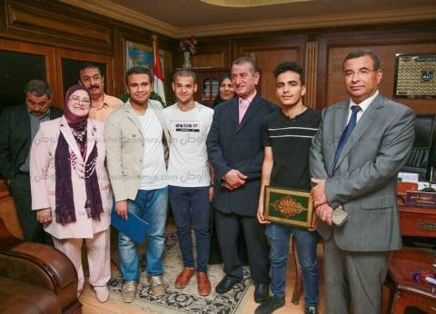 بالصور| محافظ كفر الشيخ يكرم أوائل الثانوية العامة من أبناء المحافظة