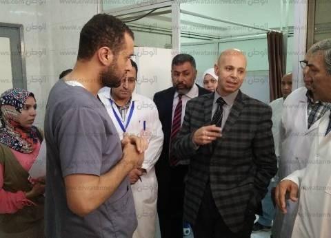 """وكيل """"صحة الشرقية"""" يتفقد مستشفى حميات الزقازيق"""
