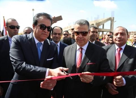 وزير التعليم العالي يفتتح مبنى دار الضيافة بجامعة بني سويف