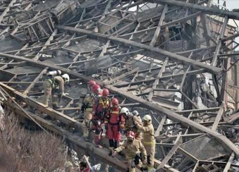 فرق الإنقاذ تواصل البحث عن ضحايا انهيار مبنى في طهران