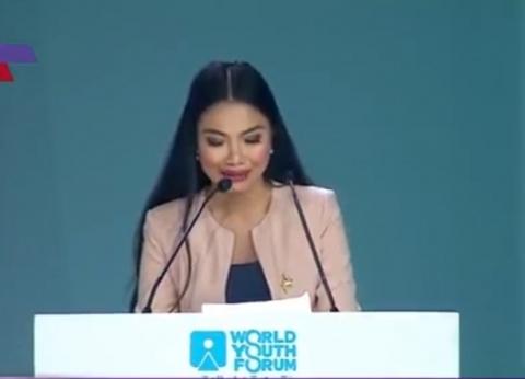 """تايلاندية مشاركة بـ""""شباب العالم"""" تشكر السيسي على إنجاح المنتدى"""
