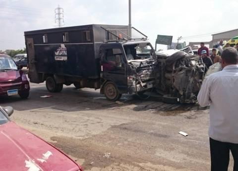 حادث تصادم بالطريق الزراعي يتسبب في تعطل الحركة المرورية لنصف ساعة