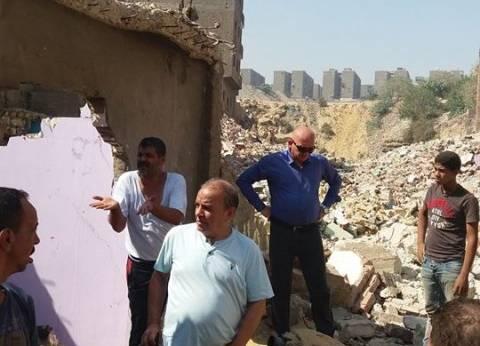رئيس حي منشأة ناصر يقود حملة إزالة العقارات المخالفة بالدويقة
