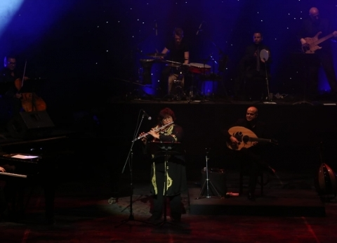 """بعد عزفها في """"كايرو ستبس"""".. إيناس عبدالدايم """"وزيرة على المسرح"""""""