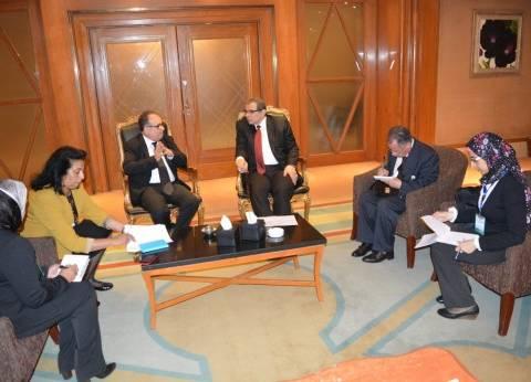 سعفان لوزير عمل تونس: المشروعات القومية أسهمت في خفض نسب البطالة