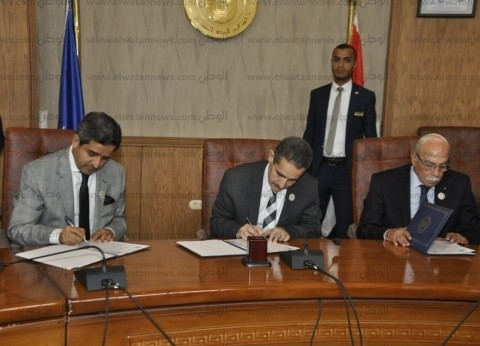 """اتفاقية تعاون بين جامعة القناة وأكاديمية """"دراسا"""" الإماراتية"""