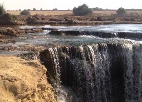 غدا.. وزير البيئة يتفقد أعمال التطوير بشلالات وادي الريان
