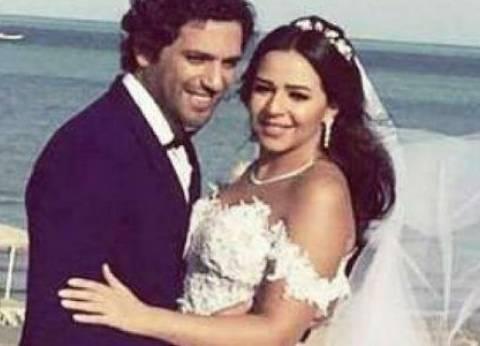 بالفيديو| حسن الرداد يحتفل بعيد زواجه الأول من إيمي سمير غانم
