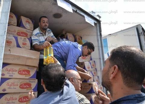 """""""الصناعات الغذائية"""" تسير قوافل أسبوعية لتوفير السلع لشمال سيناء"""