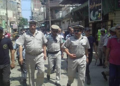 بالصور| حكمدار أمن الغربية يقود حملة مرافق وإشغالات ومرور بشوارع سمنود