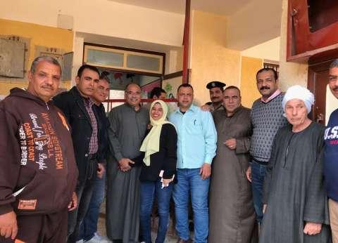 صور| أسرة محمد صلاح تشارك في الاستفتاء على التعديلات الدستورية